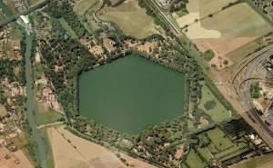 fig. 4 Il Porto di Trajano e l'area archeologica del Porto di Claudio.
