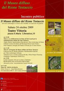Fig. 7: Museo Diffuso Rione Testaccio: locandina evento di presentazione del progetto