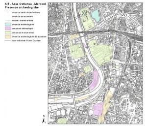 Fig. 3. Elaborazione GIS della carta delle presenze archeologiche e monumentali.