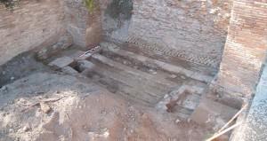 Sol d'une pièce de stockage des magasins de Trajan à Portus